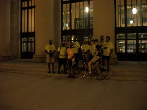 Members of Major Taylor Club at the Union Depot (our last stop)