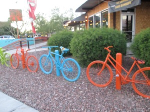bike racks in downtown Phoenix
