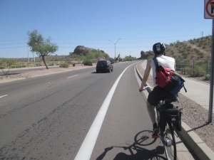 Dakota and a Tempe bike lane