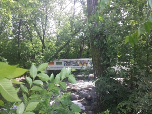 The bridge of dreams, tucked away behind the bicycle trail
